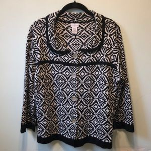 Patterned Collar Sweater